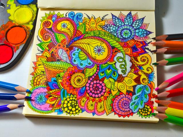 Техніка малювання зентангл і дудлинг. Малюнки в стилі дудлинг поетапно олівцем і на нігтях для початківців