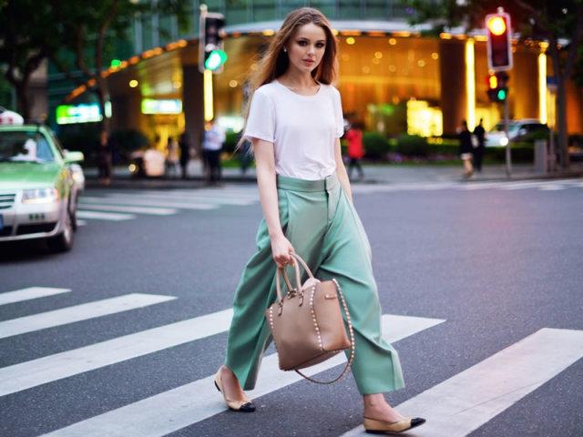 Як зшити спідницю-брюки своїми руками з шифону, з запахом, зі складками, для повних жінок, в стилі Бохо, на зав'язках: моделі, викрійки, фото. Спідниця-штани: з чим носити влітку і взимку: образи