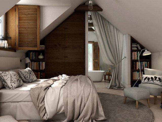 Цікаві ідеї для облаштування мансардного поверху: створення на мансарді спальні, вітальні, ванної, дитячої, кабінету, вбиральні, спортзалу — поради, фото