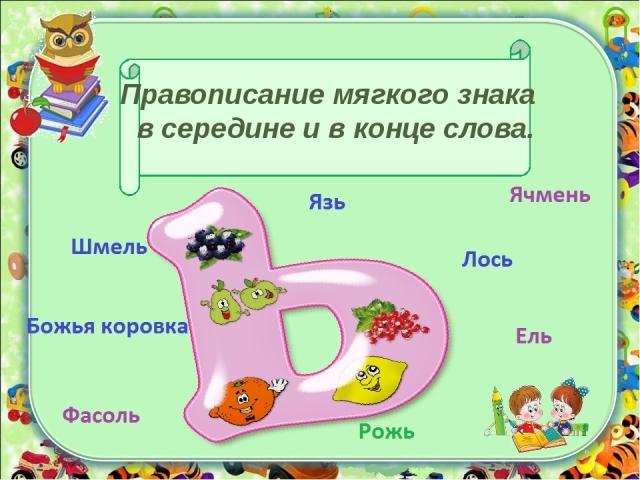 Назви риб, тварин, птахів, комах, рослин з розділовим м'яким знаком, м'яким знаком на кінці, у середині слова з 4, 5, 6, 7 букв: список слів