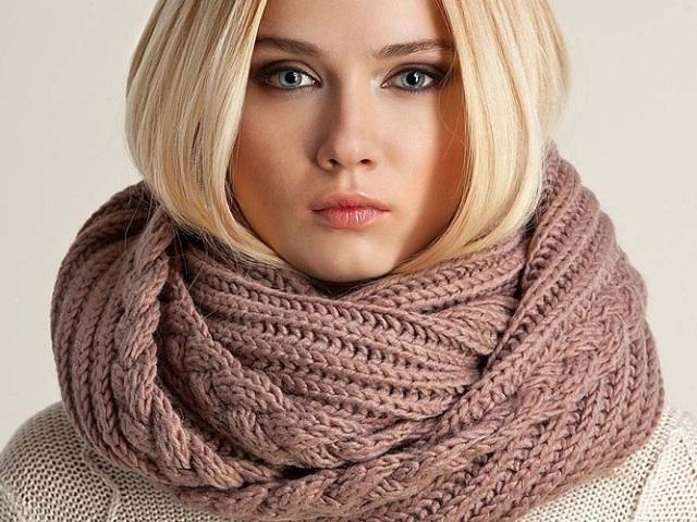 5 способів, як зв'язати кругової шарф спицями: схеми, опис