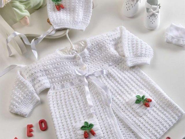 В'язання гачком для новонароджених — схеми і опис: як пов'язати конверт? В'язання гачком для новонароджених: схема в'язання плаття, кофти, чепчики, пінеток, комбінезона