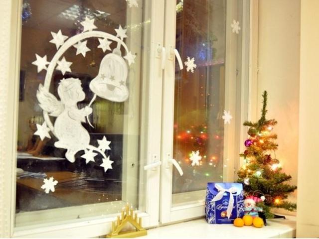 Фігурки Янголят, балерини на вікно з паперу для прикраси вікон до Нового року: роздрукувати і вирізати шаблони і трафарети для наклейки і малювання на вікнах, фото. Фігури Ангелів, балерини з паперу: трафарети, шаблони, витинанки для оформлення новогодни