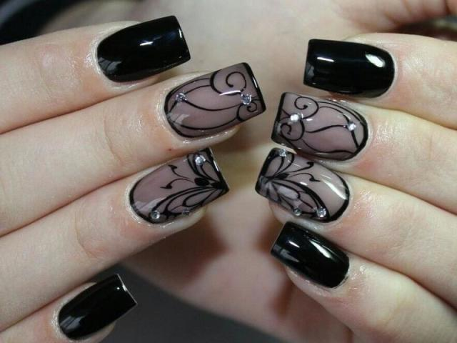Колготки на нігтях, як зробити? Як зробити дизайн колготки, вуаль, мереживо? Дизайн вуаль гель-фарбами, стемпингом, аэропуфингом і наклейками
