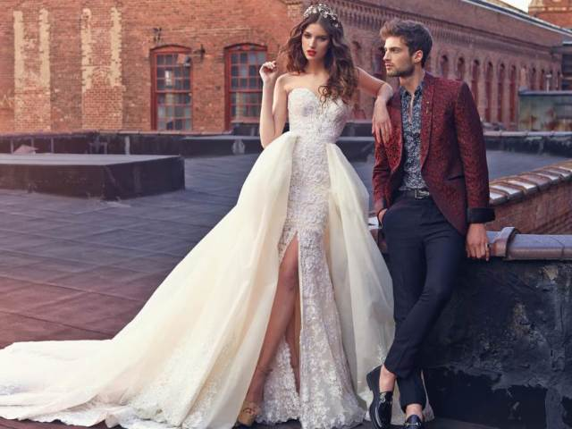 Найкрасивіші весільні сукні — моделі 2019 року: фото Як вибрати весільну сукню незвичайне, розкішне, шикарне, дизайнерське, ексклюзивне, біле, кольорове, чорне, грецьке, короткий, сукню-трансформер, зі шлейфом, відкритою спиною, бохо, мод