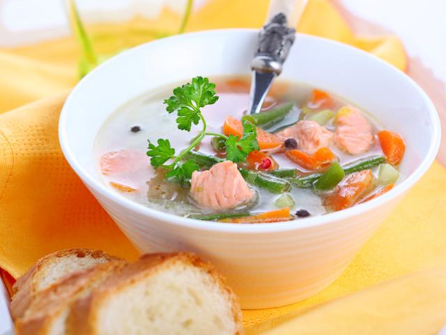 Рибний суп: смачні рецепти з хека, сьомги, скумбрії, форелі, сайри. Рецепт смачного рибного супу з томатами, пшоном, вершками, плавленим сиром
