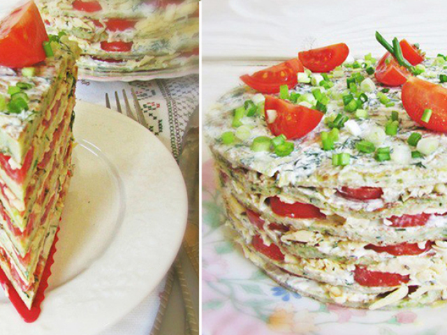 Кабачковий торт з помідорами: 2 кращих покрокових рецепту з докладними інгредієнтами