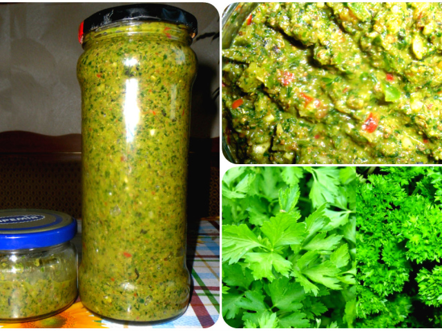 Аджика з зелених помідорів на зиму «Смакота»: 2 кращих покрокових рецепту з докладними інгредієнтами
