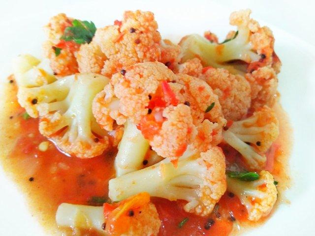 Цвітна капуста в томаті на зиму: кращий покроковий рецепт з докладними інгредієнтами
