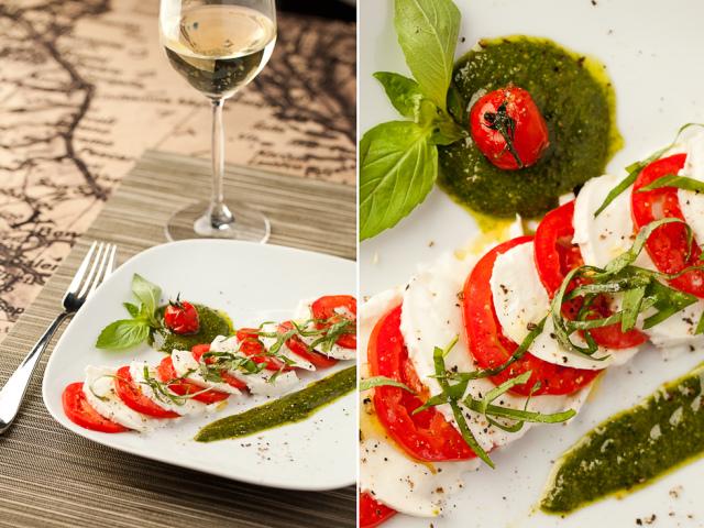 Моцарела з томатами, з соусом песто: 2 кращих покрокових рецепту з докладними інгредієнтами