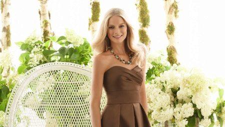 Сукня шоколадного кольору