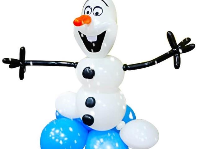 Сніговик з повітряних куль своїми руками: види, схема моделювання, опис, фото, відео. Як зробити сніговика, Олафа з Холодного серця, з цукерками, подарунком всередині з надувних кульок і ниток, паперу, вати, пап'є-маше самому: покрокова інструкція, ф