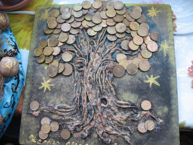 Як зробити грошове дерево своїми руками з купюр і монет: покрокова інструкція. Грошове дерево – топіари, з бісеру