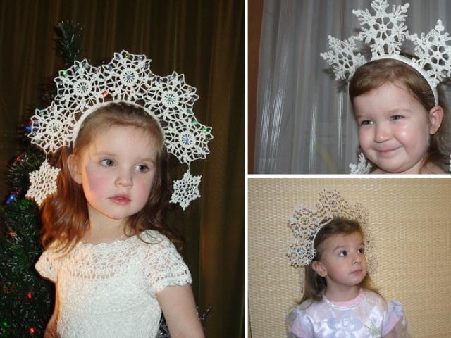 Як зв'язати гачком корону для дівчинки на ранок: схема і опис. Види в'язаних корон гачком для костюма сніжинки: фото