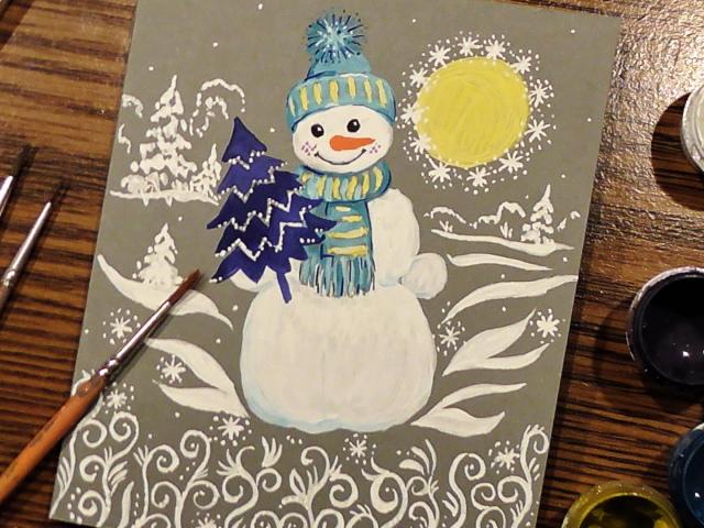 Як намалювати сніговика олівцем і фарбами поетапно для початківців і дітей? Як намалювати сніговика з «Холодного Серця»?