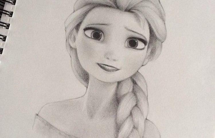 Як намалювати Королеву Ельзу з «Холодного Серця» олівцем поетапно? Малюнок Ельзи з «Холодного Серця»