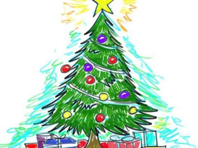 Як намалювати новорічну ялинку поетапно легко і красиво олівцем і фарбами для початківців? Як намалювати ялинку дитині?