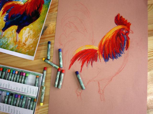 Як намалювати півня олівцем і фарбами поетапно для початківців і дітей? Як намалювати голову півня олівцем і фарбами?