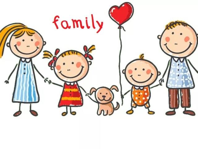 Тема «Моя сім'я» англійською мовою для дітей: необхідні слова, вправи, діалог, фрази, пісеньки, картки, ігри, завдання, загадки, мультики для дітей на англійській мові з транскрипцією та перекладом для самостійного вивчення з нуля