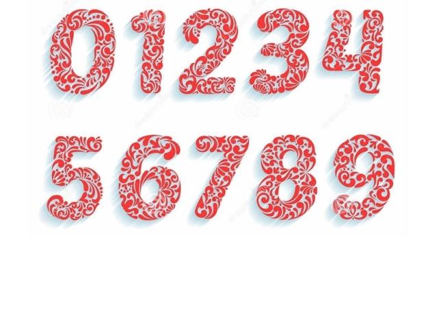 Витинанки — цифри на Новий 2020 рік з паперу: трафарети та шаблони для вирізання, фото