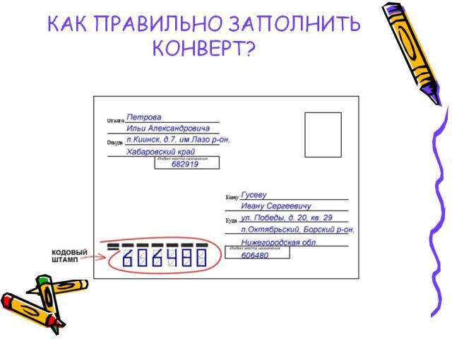 Правильне заповнення конверта Пошти Росії: зразок, приклад. Як правильно писати цифри індексу на поштовому конверті? На поштовому конверті пишеться індекс відправника або одержувача?