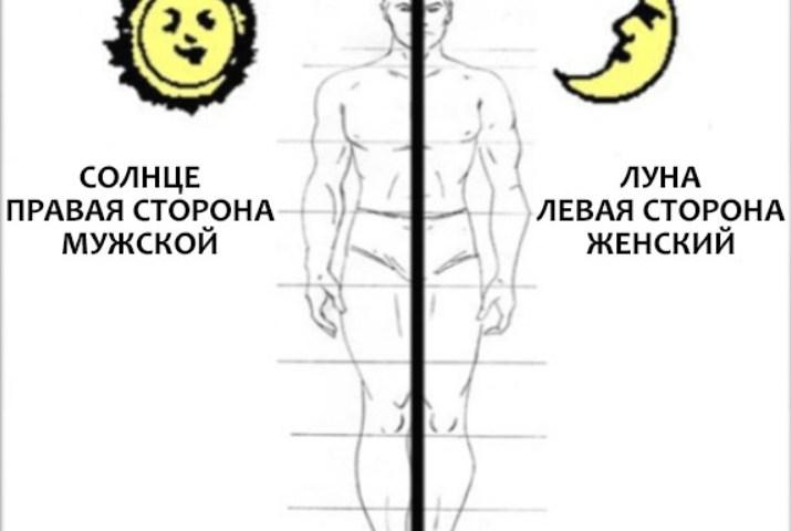 Ліва і права сторона тіла: езотерика і енергетичні потоки