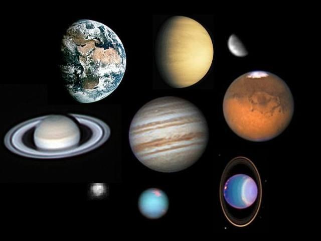 Астрологічні знаки, графічні символи планет Сонячної системи, значок Місяця, Марса, Юпітера, Землі. Якими астрономічними знаками позначають планети-гіганти: піктограма, астрономія