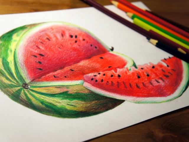 Як намалювати кавун? Як намалювати кавун олівцем поетапно?
