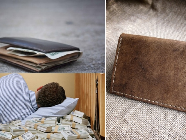 Сонник до чого сниться гаманець уві сні з паперовими грошима, дрібницею, новий, чистий, повний грошей, червоний, чорний, рваний? До чого сниться сон, що вкрали гаманець, втратити гаманець?