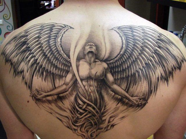 Татуювання із зображенням ангела-охоронця, крил ангела: види, приклади, фото, ескізи, відео, значення татуювання, що означає наколка у вигляді ангела в кримінальному середовищі, де краще наносити і які кольори використовувати?
