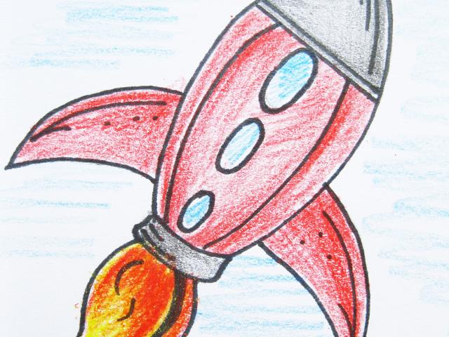Як намалювати ракету? Малюнок — ракета олівцем для дітей