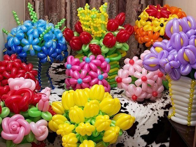 Як зробити квіти з повітряних кульок своїми руками: покрокова інструкція, ідеї. Як зробити простий і складний квітка, ромашку, троянду, букет квітів з довгих, ШДМ і круглих повітряних куль: схема. Найкращі квіти з повітряних кульок своїми руками: фото