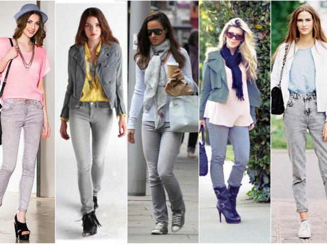 З чим носити сірі джинси чоловікам і жінкам? Як замовити сірі джинси чоловічі та жіночі з завищеною талією, завужені, рвані в Ламода (Lamoda)?
