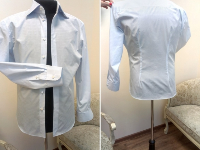 Як вшити, перешити сорочку чоловічу і жіночу на розмір менше? Як вшити чоловічу і жіночу сорочку в талії, з боків, в плечах, пройму у сорочки, вшити і вкоротити рукава сорочки з манжетами, вкоротити по довжині своїми руками: схема