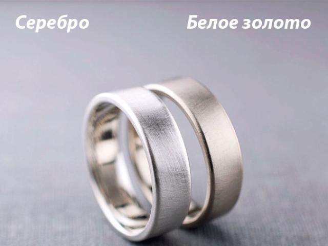 Як відрізнити біле золото від срібла: по кольору, блиску, твердості, звуку, окислення, тавру — корисні поради