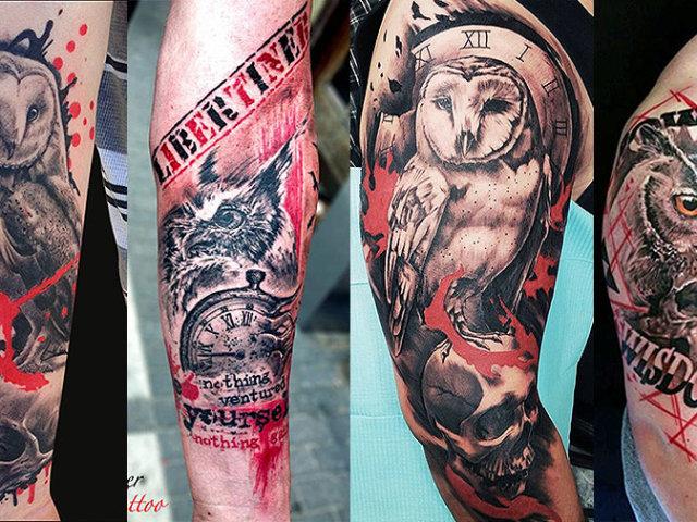 Що означає татуювання сови, пугача на тілі: приклади, фото. Татуювання для жінок і чоловіків — сова, пугач: приклади, фото, ескізи, відео