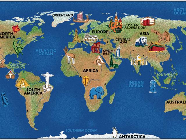 Скільки материків і частин світу на планеті Земля: їх назви, карта. Скільки материків, континентів і океанів на Землі і як вони називаються?