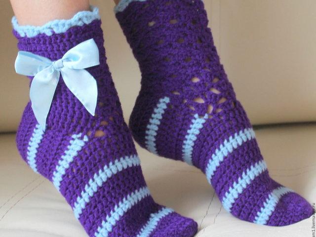 Як зв'язати гачком шкарпетки — способи: схеми, опис