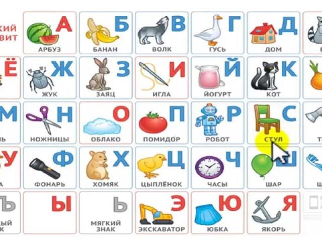 Російський алфавіт по порядку друкованих, заголовних і прописних літер від А до Я, пронумерований в прямому і зворотному порядку: фото, роздрукувати. Скільки всього, голосних, приголосних, шиплячих літер і звуків в російській алфавіті? Транслітерація росі