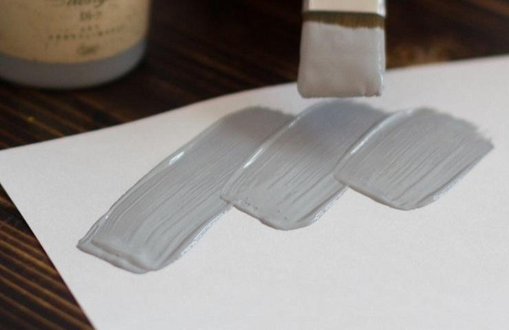 Які фарби змішати, щоб отримати срібний, сріблястий колір?