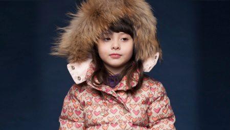 Пухове пальто для дівчинки