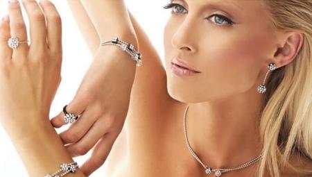 Жіночий браслет з білого золота