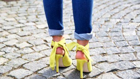 Жовті босоніжки