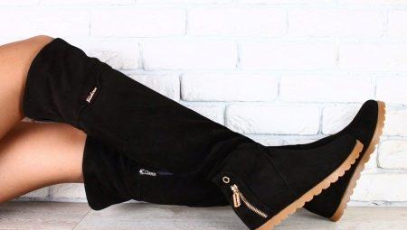 Замшеві ботфорти без каблука: як вибрати і з чим носити?