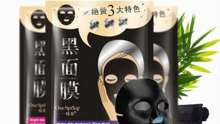 Чорна тканинна маска на обличчя: властивості та правила використання