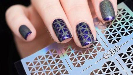 Трафарети для нігтів: види та правила використання