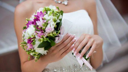 Весільний французький манікюр