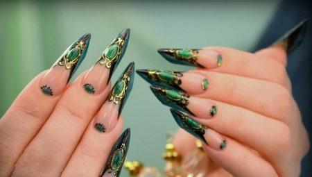 Рідкі камені на нігтях: особливості манікюру і тонкощі виконання