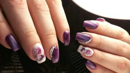 Фіолетовий манікюр: особливості кольору і стильні ідеї