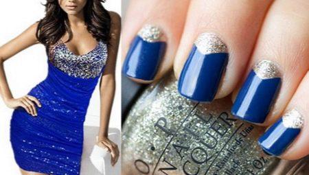 Манікюр під синє плаття: особливості вибору та ідеї дизайну